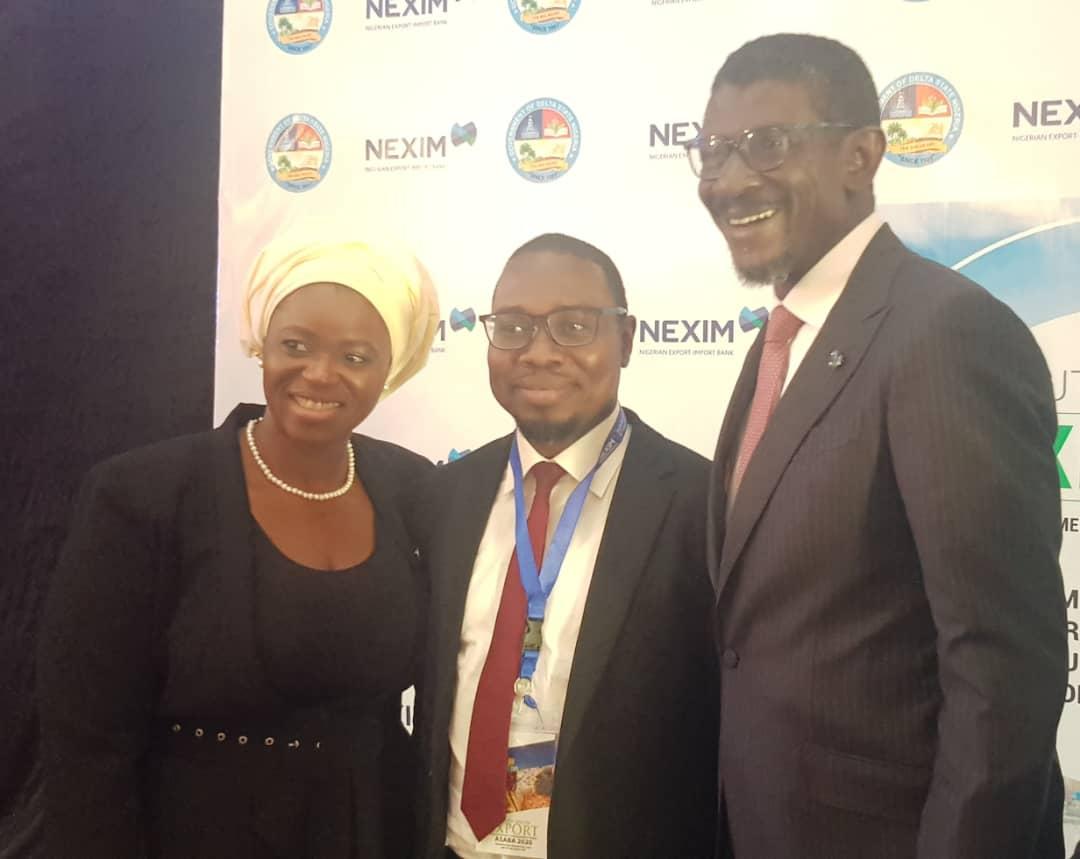 ED Business Development NEXIM Bank,Stella Okotete & MD NEXIM Bank, Mr Abubakar Bello at the NEXIM South-South Export Enlightenment and Engagement Forum 2020